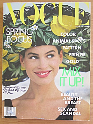 Vogue Magazine March 1989 Carre' Otis
