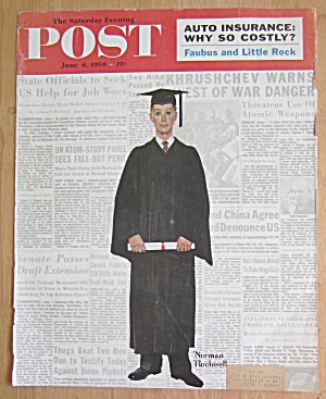 Saturday Evening Post Cover-june 6, 1959-rockwell