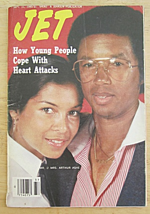 Jet Magazine September 11, 1980 Mr & Mrs Arthur Ashe