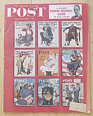Saturday Evening Post Magazine March 12, 1955 Rockwell