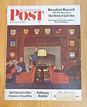 Saturday Evening Post Magazine September 29, 1962