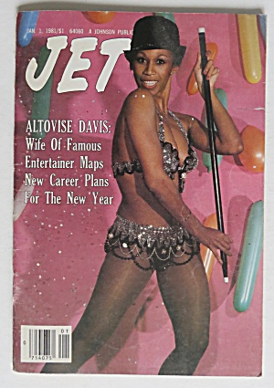 Jet Magazine January 1, 1981 Altovise Davis