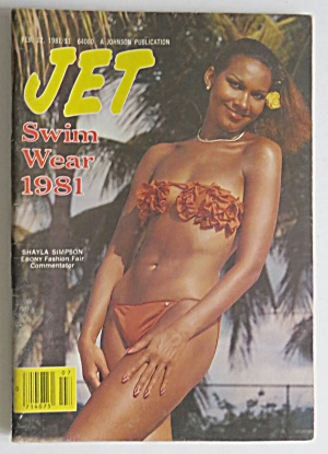 Jet Magazine February 12, 1981 Swim Wear 1981