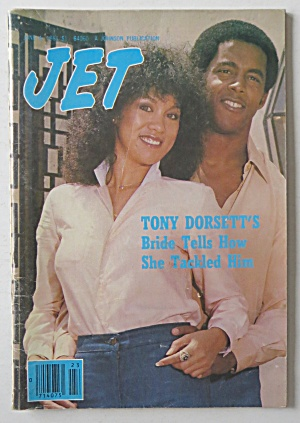 Jet Magazine June 4, 1981 Tony Dorsett's Bride