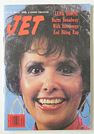 Jet Magazine July 23, 1981 Lena Horne