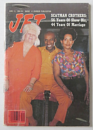 Jet Magazine June 11, 1981 Scatman Crothers