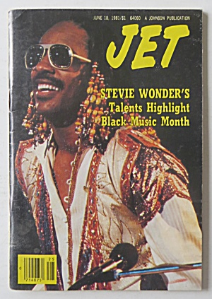 Jet Magazine June 18, 1981 Stevie Wonder