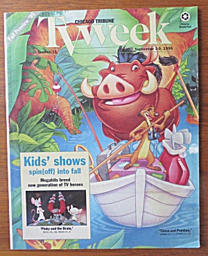 Tv Week Guide September 3-9, 1995 Timon & Pumbaa