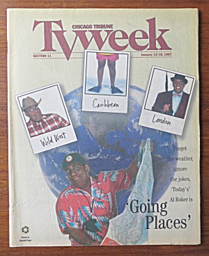 Tv Week January 12-18, 1997 Al Roker Going Places