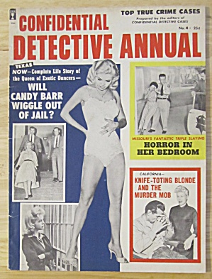 Confidential Detective Annual Magazine 1960 Candy Barr