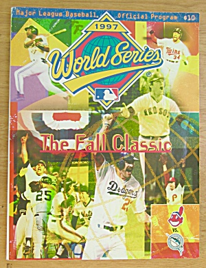 1997 Major League Baseball World Series Lprogram
