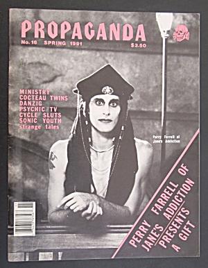 Propaganda Magazine Spring 1991 Perry Farrell (Image1)