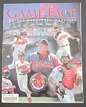 Game Face Indians Scorebook Magazine 1998 4 In A Row