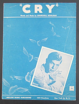 1951 Cry Sheet Music With Johnnie Ray Cover