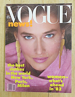 Vogue Magazine January 1982 Rosemary Mcgrotha
