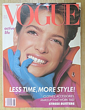 Vogue Magazine August 1988 Stephanie Seymour