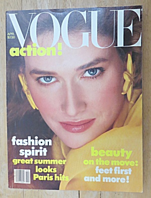 Vogue Magazine April 1982 Rosemary Mcgrotha