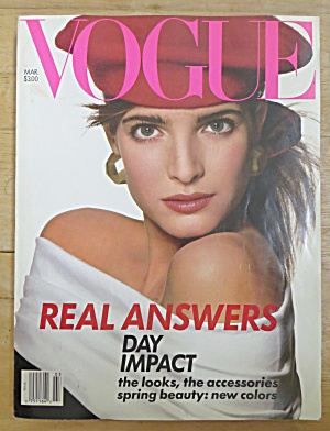 Vogue Magazine March 1988 Stephanie Seymour