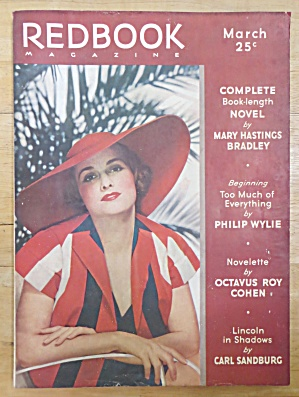 Redbook Magazine March 1936 Carl Sandburg