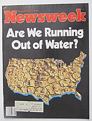 Newsweek Magazine February 23, 1981 Out Of Water (Image1)