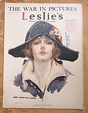 Leslie Magazine August 2, 1917 Flagg Cover  (Image1)