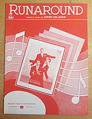Sheet Music For 1954 Runaround The 3 Chuckles  (Image1)