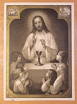 Early 1900's Body Of Christ Children's Lithograph