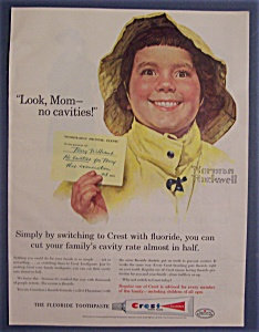 1959 Crest Toothpaste-norman Rockwell-terry Williams