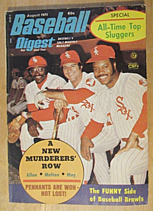 Baseball Digest August 1973 Allen, Melton & May  (Image1)