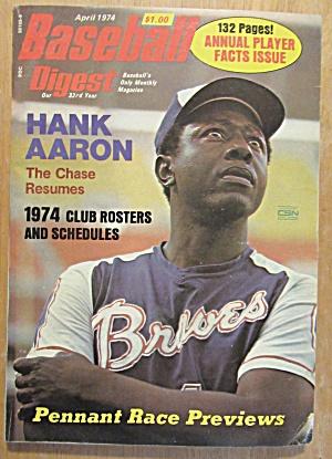 Baseball Digest April 1974 Hank Aaron  (Image1)