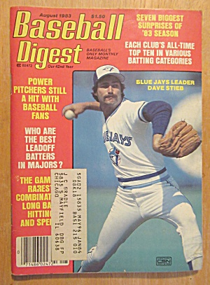 Baseball Digest Magazine August 1983 Dave Stieb (Image1)