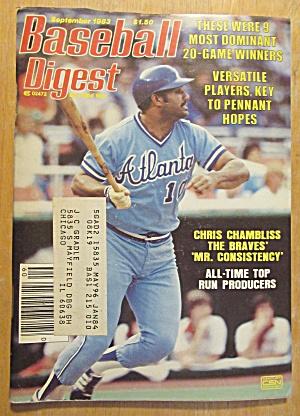 Baseball Digest Magazine September 1983 Chris Chambliss (Image1)