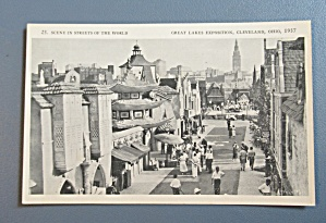 Vintage 1937 Great Lakes Exposition Postcard