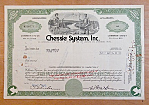 1976 Chessie System Inc Stock Certificate (Image1)