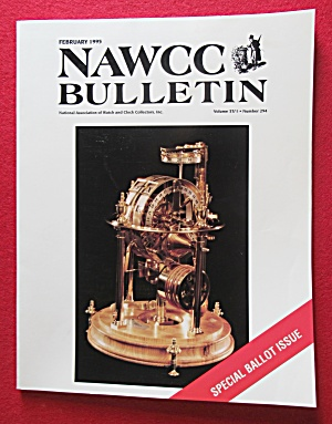 NAWCC Bulletin February 1995 Watch & Clock Collectors (Image1)