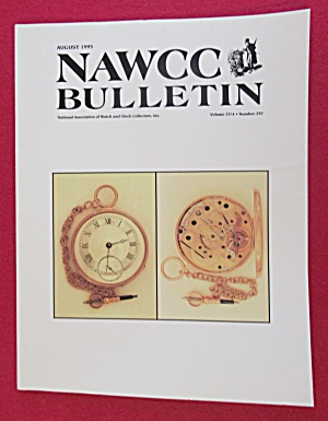 NAWCC Bulletin August 1995 Watch & Clock Collectors (Image1)