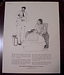 Norman Rockwell 1956 Massachusetts Mutual Life Ad