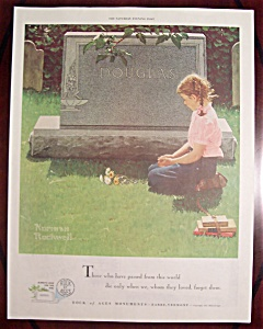 Rock Of Ages Ad-1955-girl By Grave By Norman Rockwell