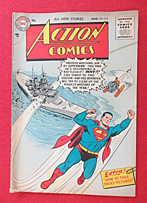Action Comics March 1956 Superman Super Destroyer