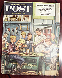 Saturday Evening Post Cover By Dohanos March 19,1955