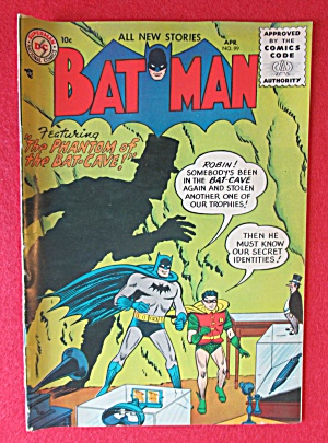 Batman Comics April 1956 Phantom Of The Bat Cave