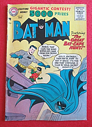 Batman Comics August 1956 The Great Bat Cape Hunt