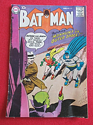 Batman Comics August 1958 Manhunt In Outer Space