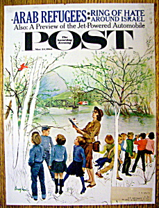 Saturday Evening Post Cover By Hughes-march 24, 1962