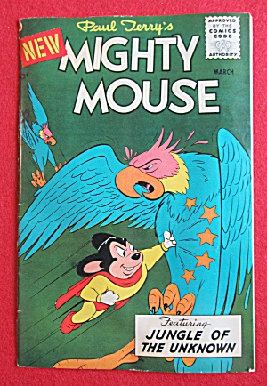 Mighty Mouse Comics March 1956 Jungle Of The Unknown