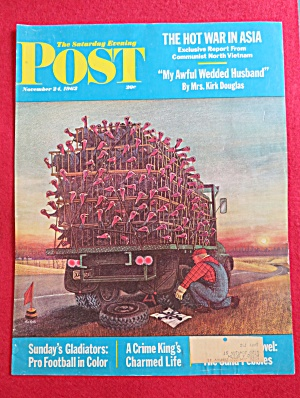 Saturday Evening Post Cover By Balet-november 24, 1962