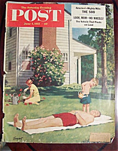 Saturday Evening Post Cover-june 4, 1955-dick Sargent