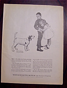 Norman Rockwell 1960 Massachusetts Mutual Life Ad