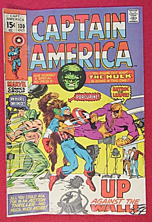 Captain America Comic October 1970 Up Against The Wall (Image1)