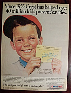 Norman Rockwell 1975 Crest Toothpaste Ad